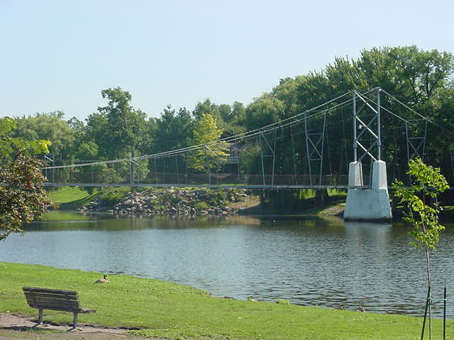 Suspension Bridge, Charles City, IA