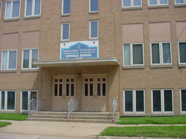 Immaculate Conception School, Highway 18 & Clark Street, Charles City, IA